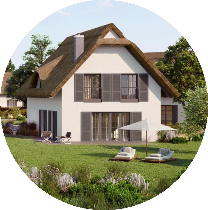 Hochwertige Reetdachvilla Garten Rugen Reetdachhaus Style At Home Haus