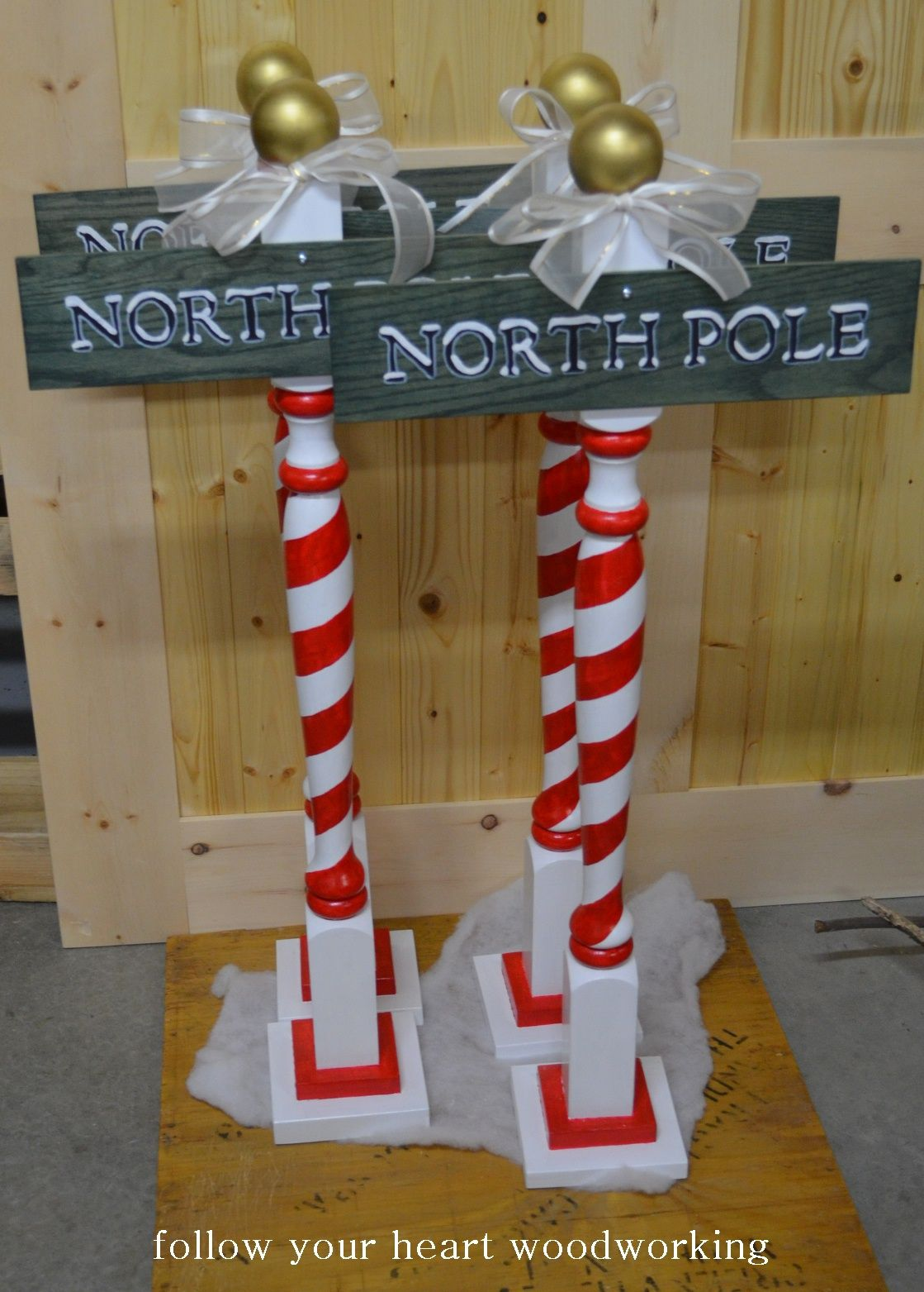 Follow Your Heart Woodworking Christmas Items North Pole