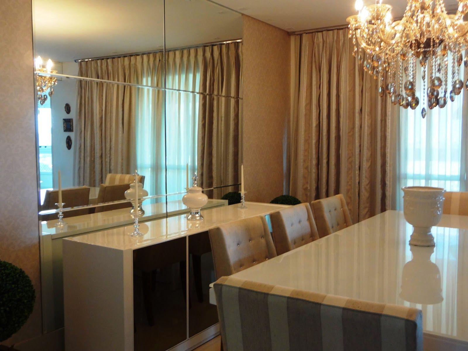 Sala De Jantar Com Espelho ~  Sala De Jantar Apartamento, Sala De Jantar Com Espelho, Buffet Sala