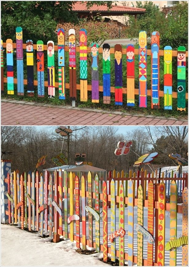 10 Fabulous Ideas To Decorate Your Patio Or Garden Fence Diy Garden Fence Fence Design Diy Fence
