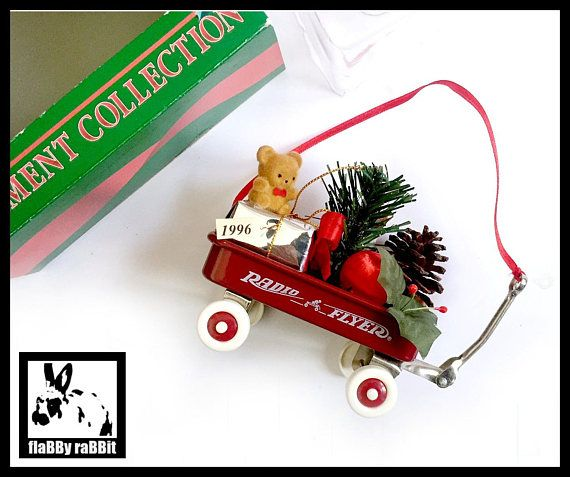 radio flyer ornament red wagon christmas ornament vintage radio
