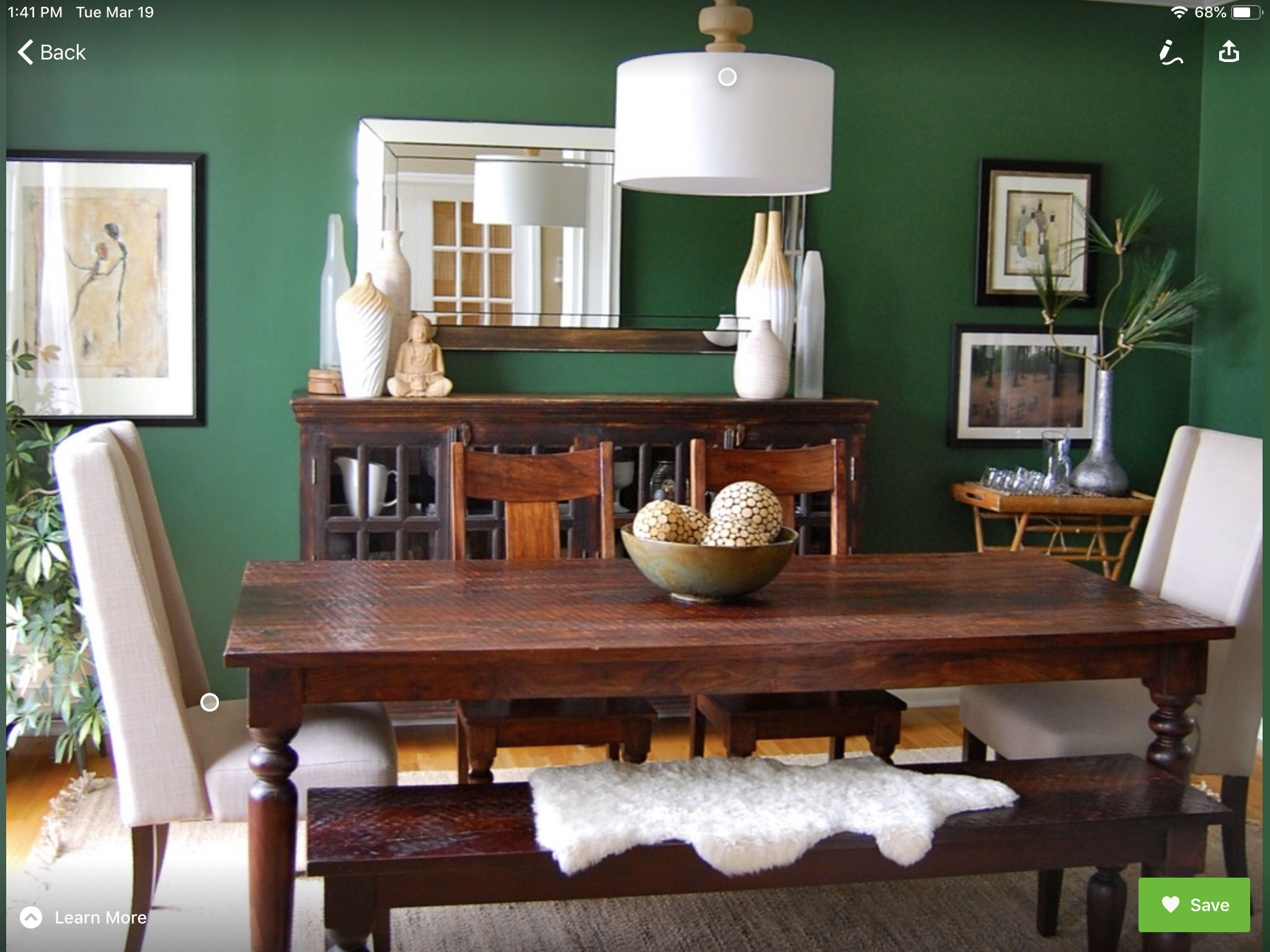 Pin By Lou Green On Kitchen Ideas Green Dining Room Dining Room