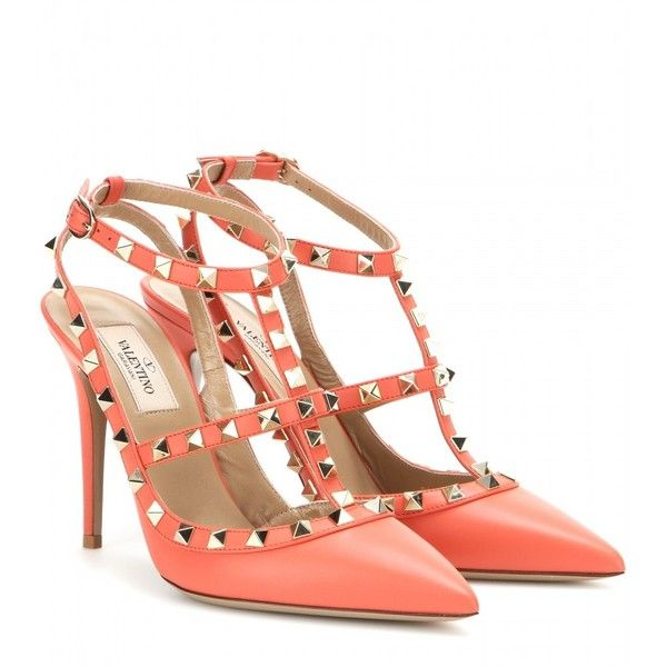 0b6941c3841e Valentino Rockstud Leather Pumps ( 695) ❤ liked on Polyvore featuring shoes