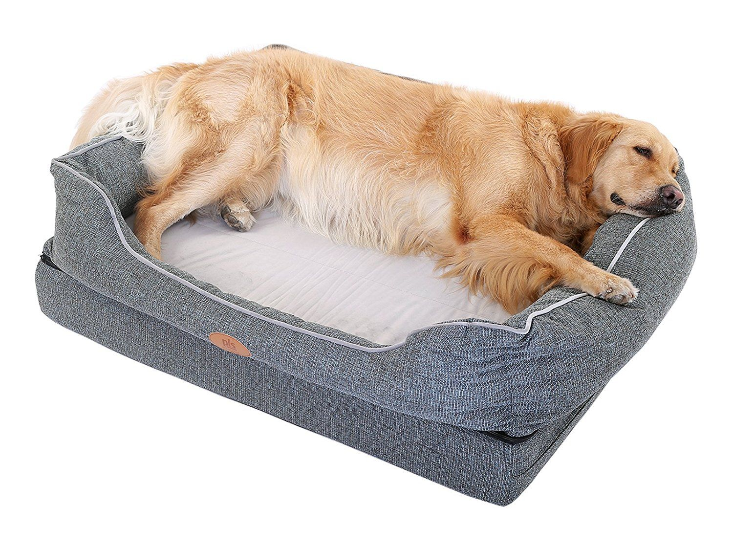 New Pls Birdsong Fusion Orthopedic Dog Bed With Plush Bolster Sides Firm Foam Dog Bed Dog Beds For Large Dogs With Rem Cool Dog Beds Orthopedic Dog Dog Bed