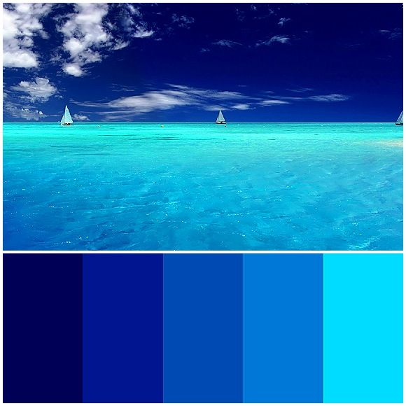 ocean blue palette design inspiration pinterest blue