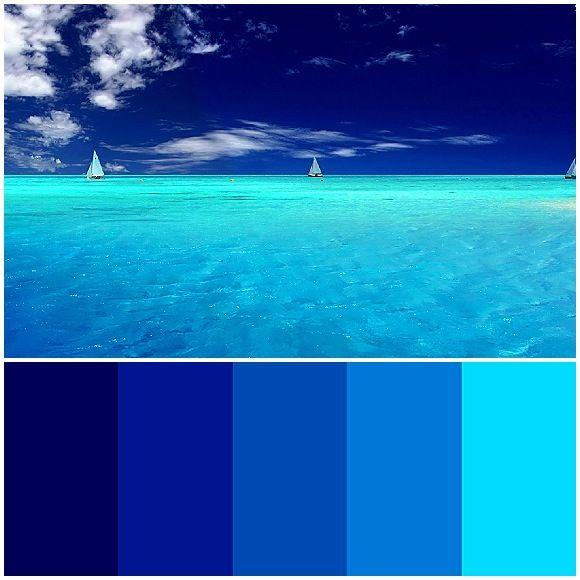 Ocean Blue Palette Design Inspiration Pinterest Blue