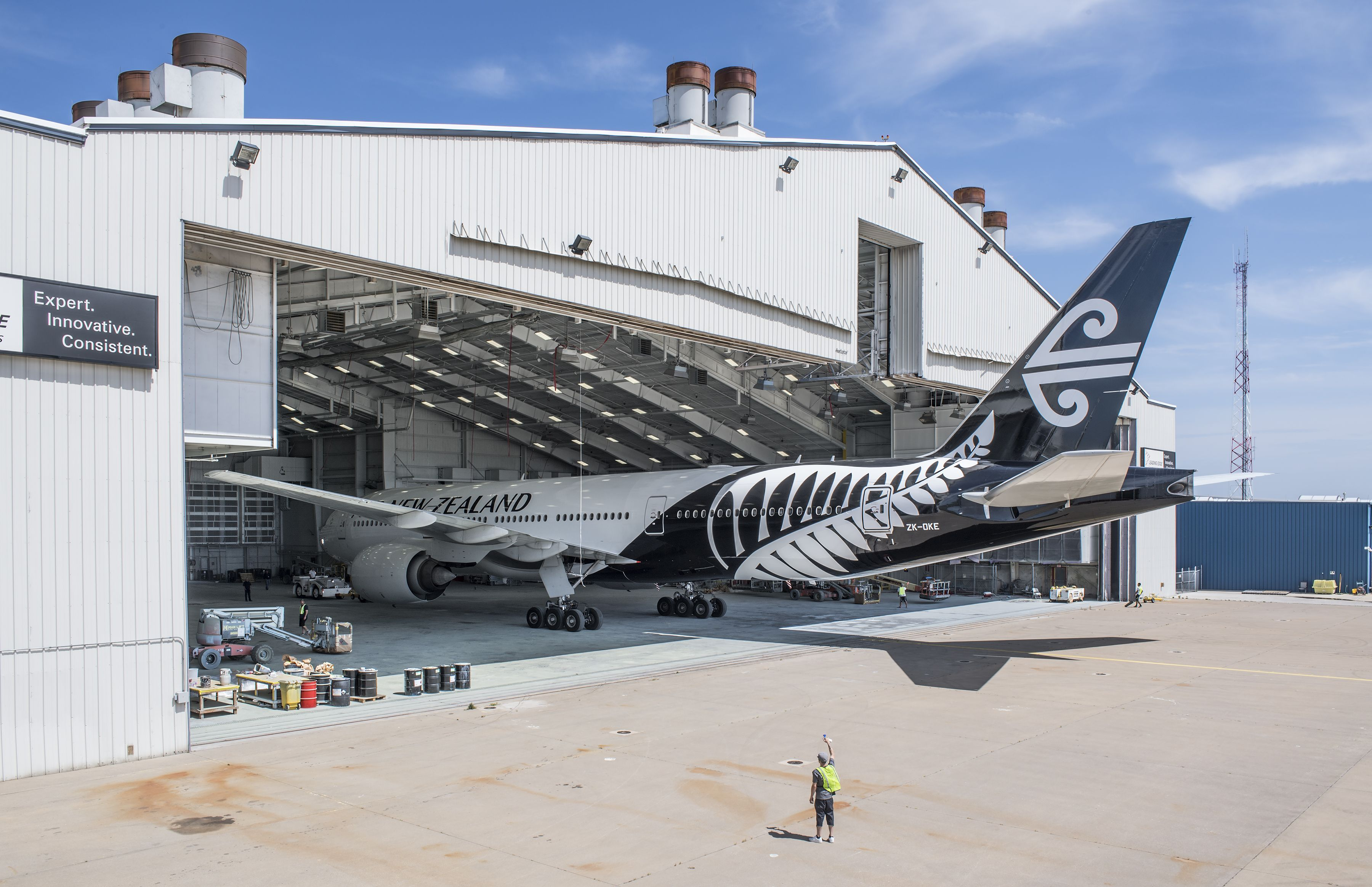 Air New Zealand Boeing 777 Painted In Fort Worth Texas At Meacham