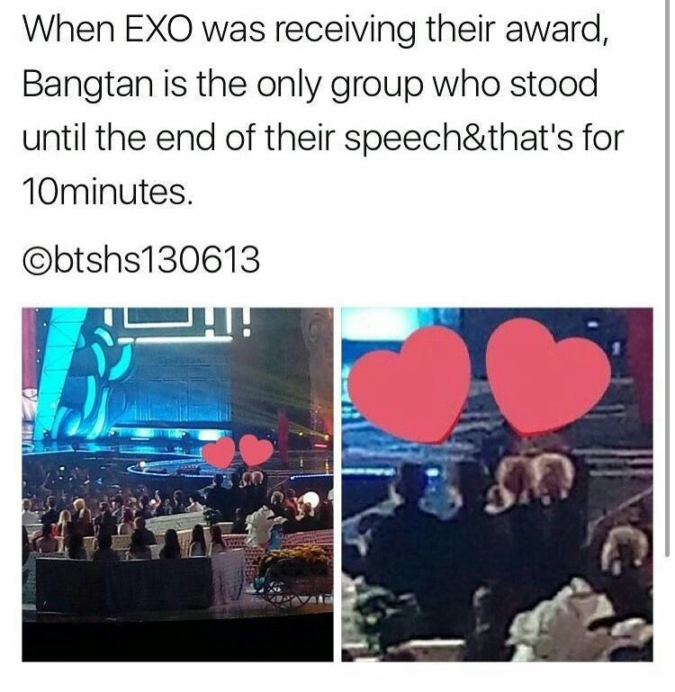 See They Descent Each Other So Much Yet There S Fan Wars Between Exo Ls And Armys Why Can T We Love Each Other Like Bts And Exi Bts And Exo Bts Bts Funny