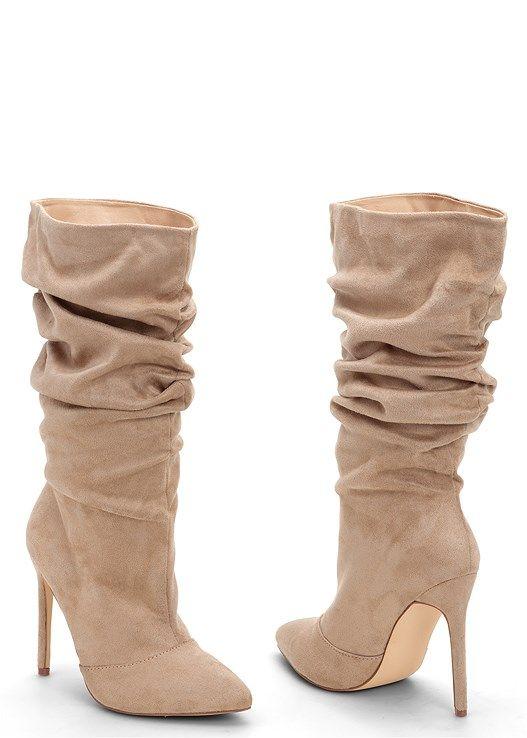HIGH HEEL SLOUCH BOOT | Boots, High heel boots, Women shoes