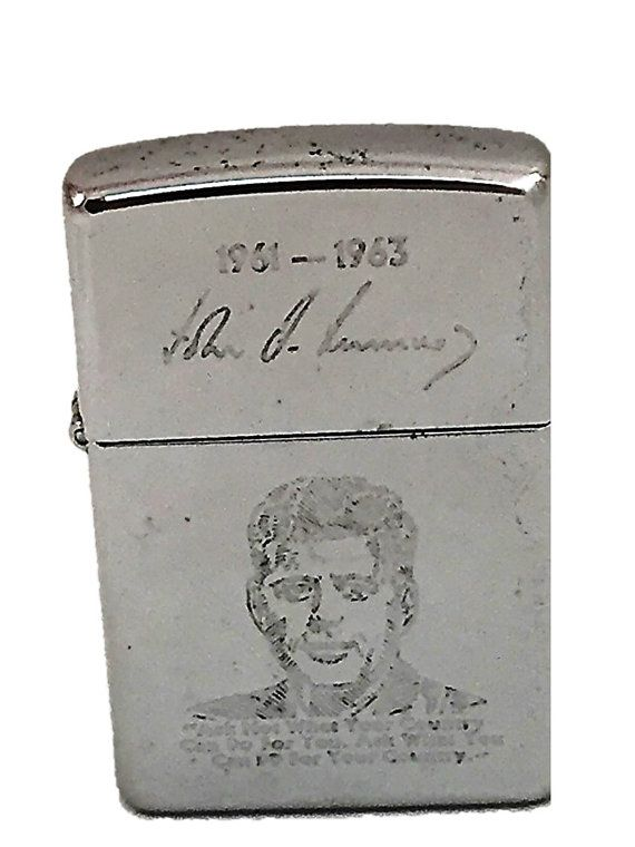 Rare 1995 Jfk Zippo Lighter Vintage John F Kennedy Ask Not What