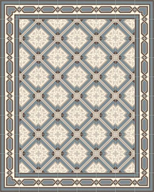 Ornament Feinsteinzeug: Die Historische Steinzeugfliese SF 556 A Als  Verlegemuster Mit Den Steinzeugfliesen SF 557 A + SF 557 A E, Format: 17 X  17cm, ...