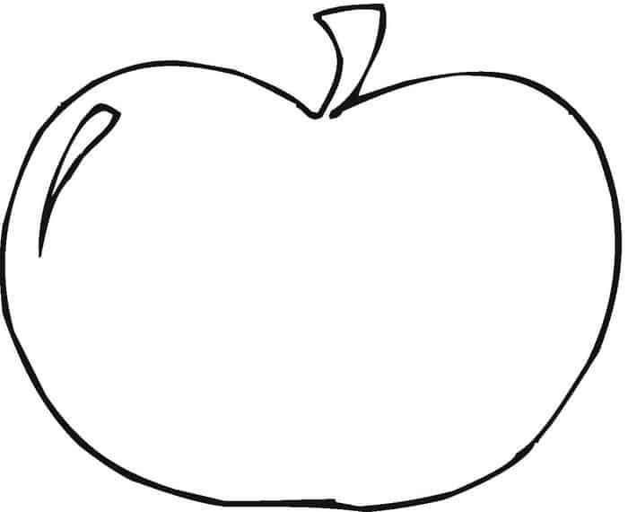 Apple Coloring Pages In 2020 Apple Coloring Pages Coloring Pages