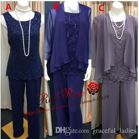 Awesome Mother Of The Bride Pant Suits Lace Chiffon Mother S Suit