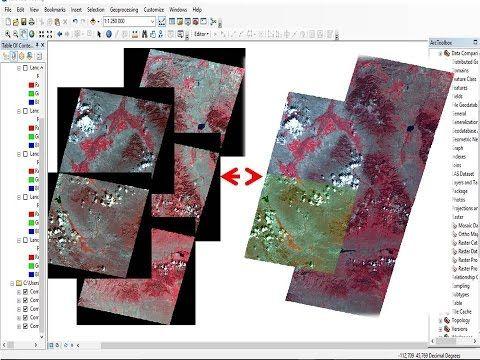Mosaic Landsat Raster Dataset In Arcgis