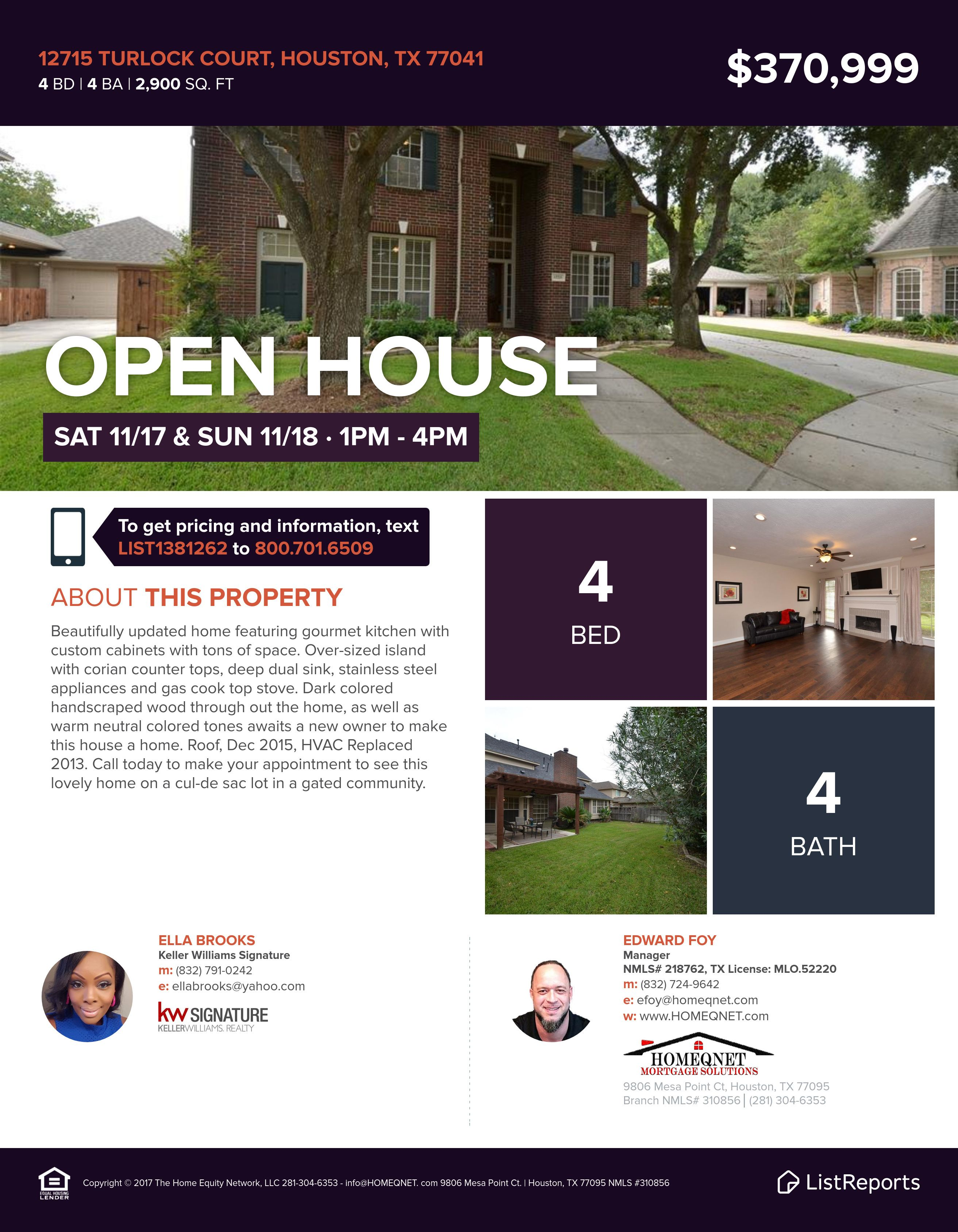 12715 Turlock Ct Hou Tx 77041 4 Bd 4 Ba 2900 Sqft Https Loom Ly Xuw5m74 Down Payment Assistance Available C Houston Real Estate Va Mortgages Open House