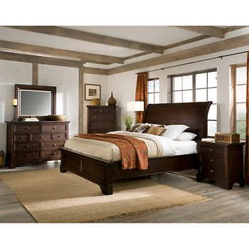 telluride 6 piece king bedroom set bed1 3 drawer nightstand1 single rh pinterest com