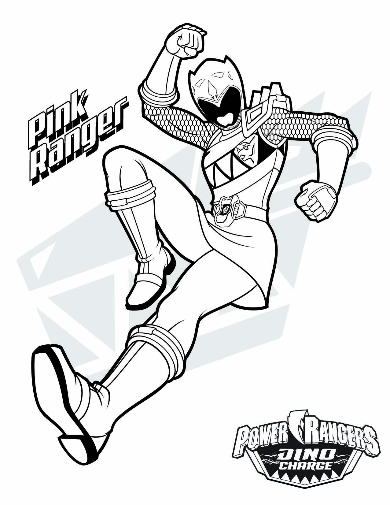 Free online coloring pages of power rangers - Pink Ranger Download Them All Http Www Powerrangers Com