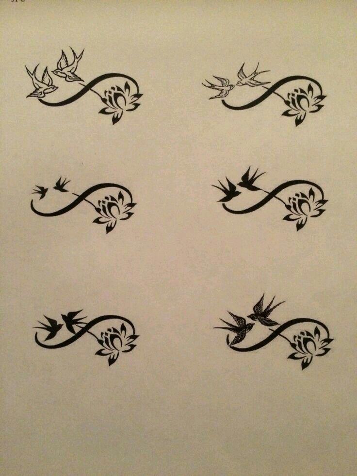 Infinity lotus flower tattoo maybe change to butterflies for Lotus flower and butterfly tattoo designs