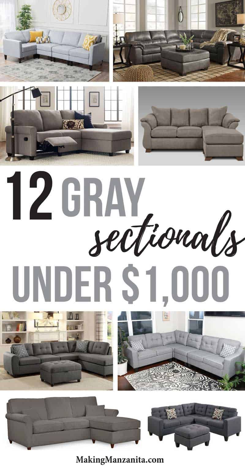 10 Cheap Sectionals Under 1000 In Gray Making Manzanita Affordable Sofa Farm House Living Room Cheap Living Room Furniture