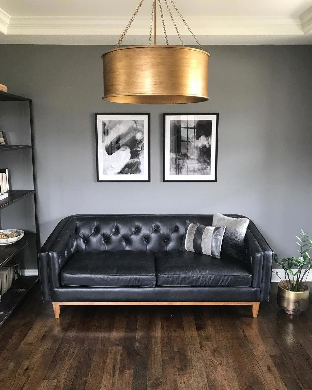 2293 Best Images About Leather Sofas And Living Room: Alcott Oxford Black Sofa In 2020