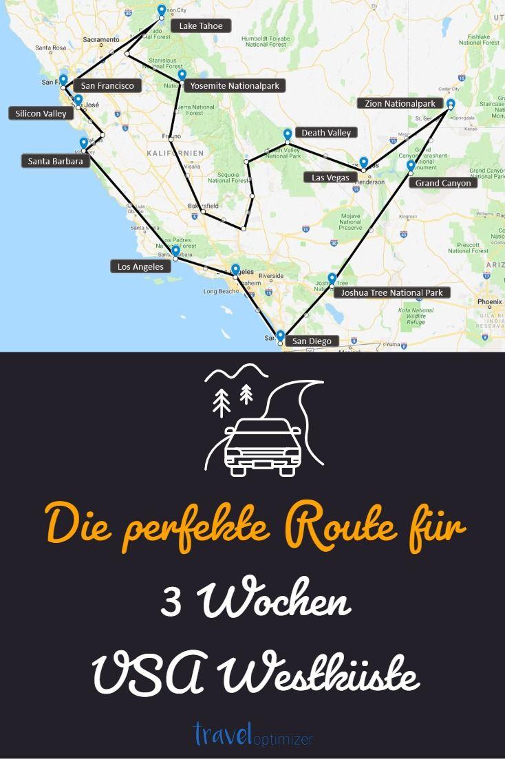 Die perfekte Route für 3 Wochen USA Westküste