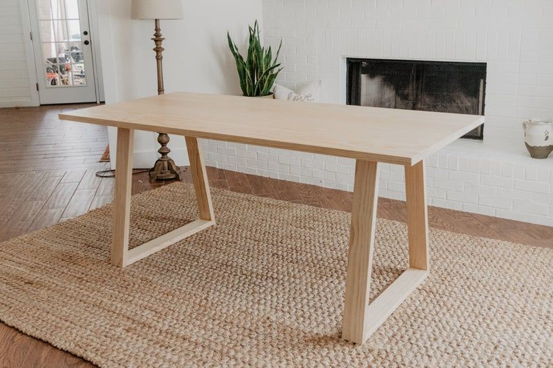 Modern Dining Table Build Plans Etsy In 2020 Modern Dining Table Diy Dining Room Table Modern Kitchen Tables
