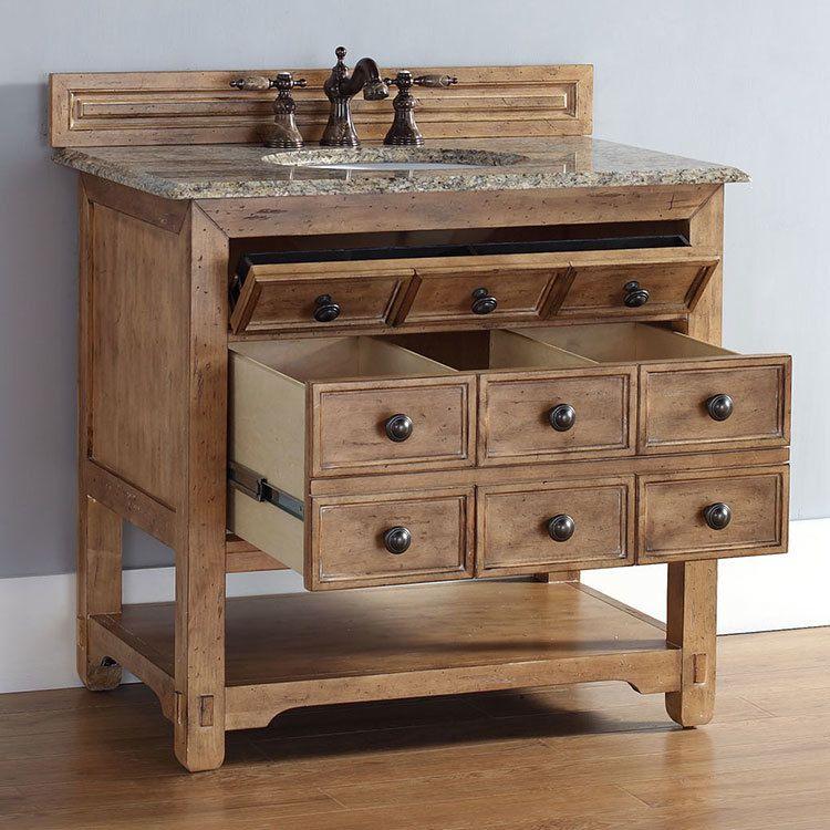 Malibu 36\u2033 Honey Alder Single Vanity Cabinet without Top James