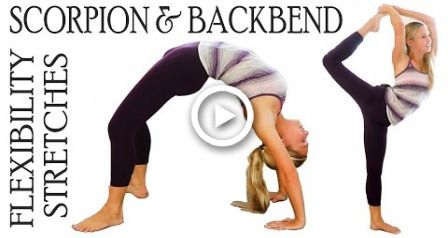 Flexibility Stretch Exercises Workout for Scorpion & Back Bends For Ballet, Dance & Cheerleading #fi...