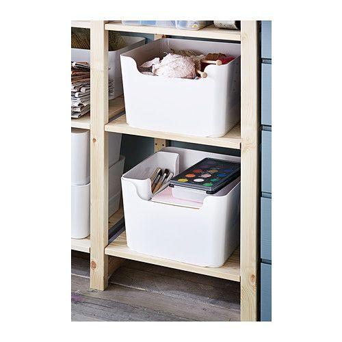 Ikea Kellerregal pluggis recycling bin white storage organizing and organizations