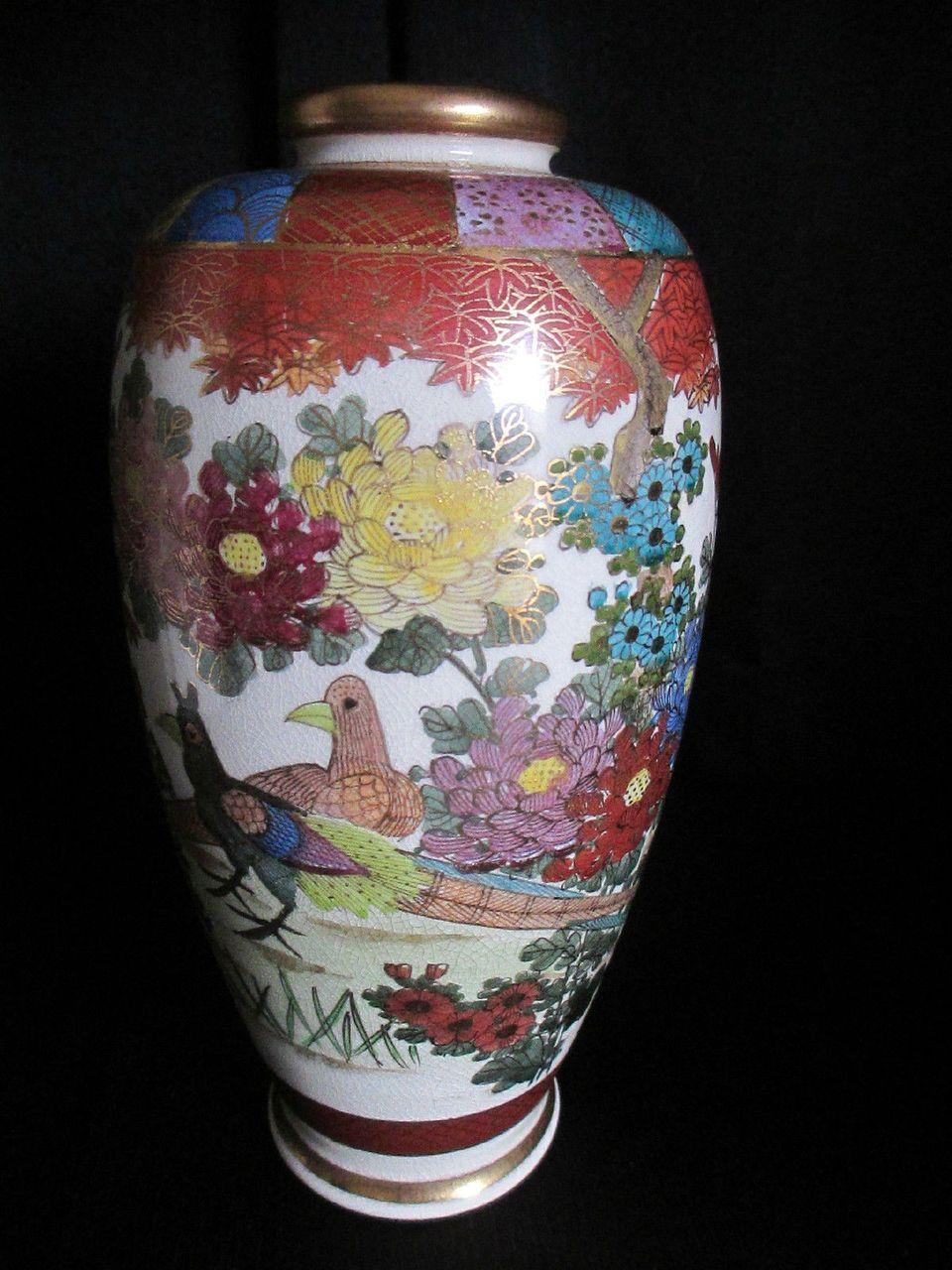 Vintage satsuma pottery