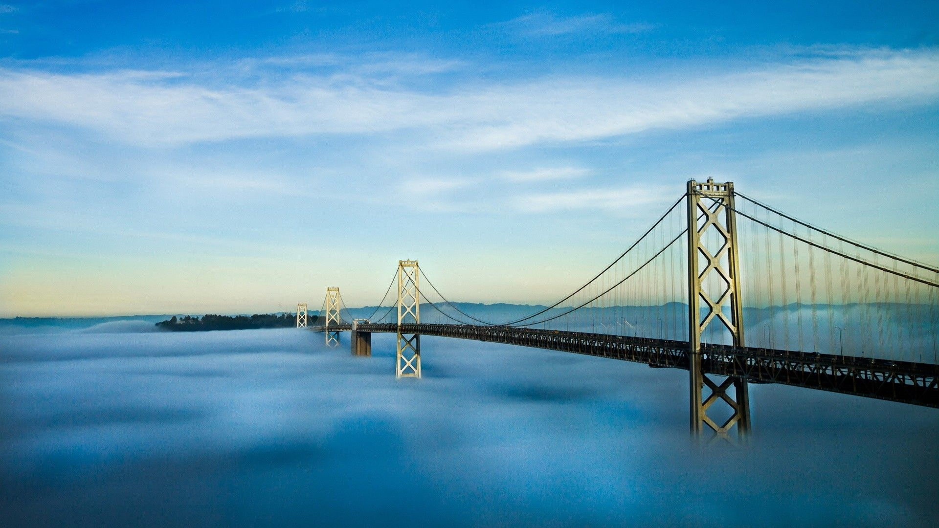 San Fransisco Bay Bridge HD desktop wallpaper Widescreen High