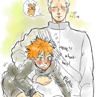 Unlikely Friendship | Aone x Hinata!! I can't believe more people don't ship this, though I can't say it's my favorite X3