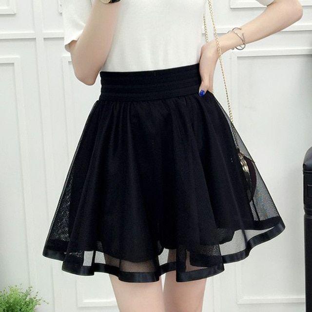 Harajuku Women Summer High Waist Pleated Skirt Cosplay Kawaii Mini Skirt Harajuku Women Summer High