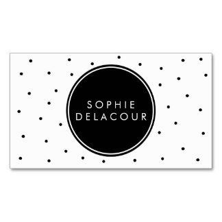 Carte De Visite Moderne Noir Du Pois