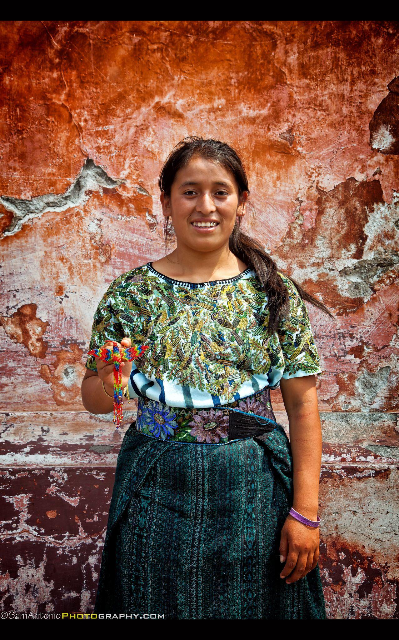 Portrait of Leticia in Antigua, Guatemala. www.SamAntonioPhotography.com
