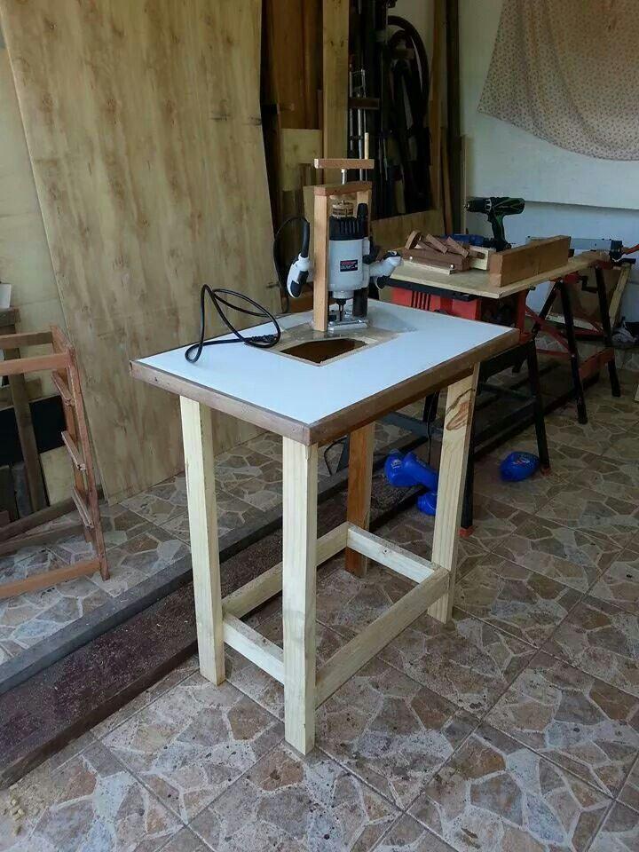Mesa para tupia fresadora de 1500w router table for Mesa para fresadora