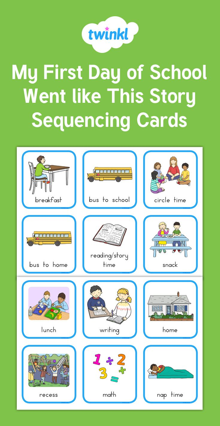 Sequencing Cards First Day Of School First Day Of School Sequencing Cards Special Education Students [ 1417 x 735 Pixel ]