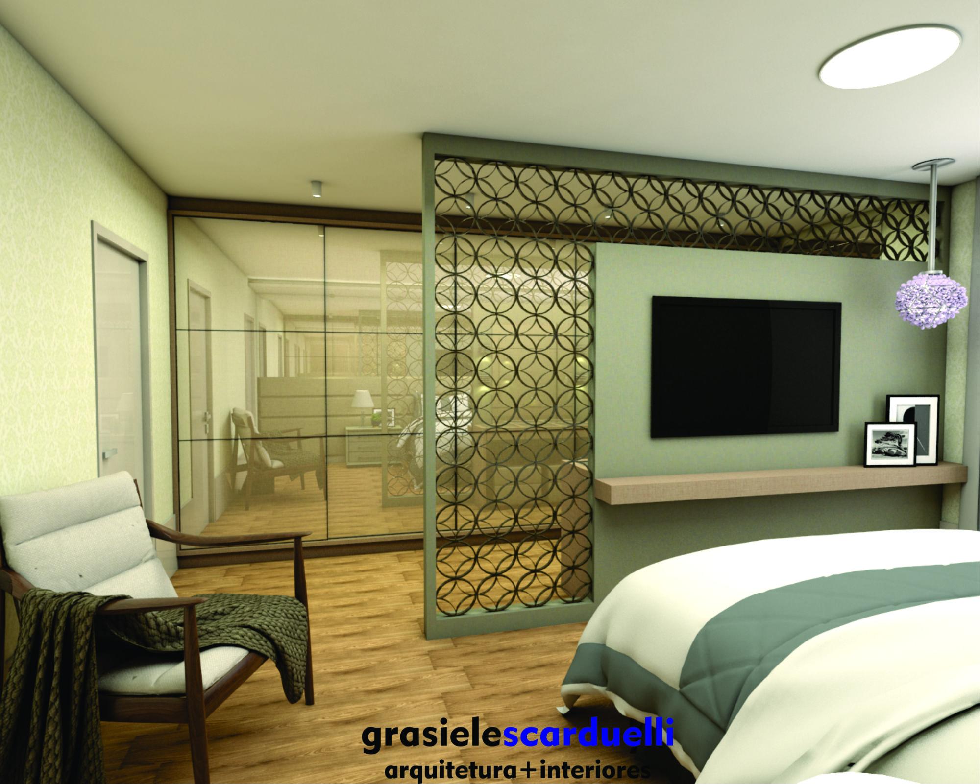 Su Te Integrada Com Closet Painel De Mdf Camas Estofadas E  ~ Cadeiras Modernas Para Quarto E Quarto Com Closet E Suite