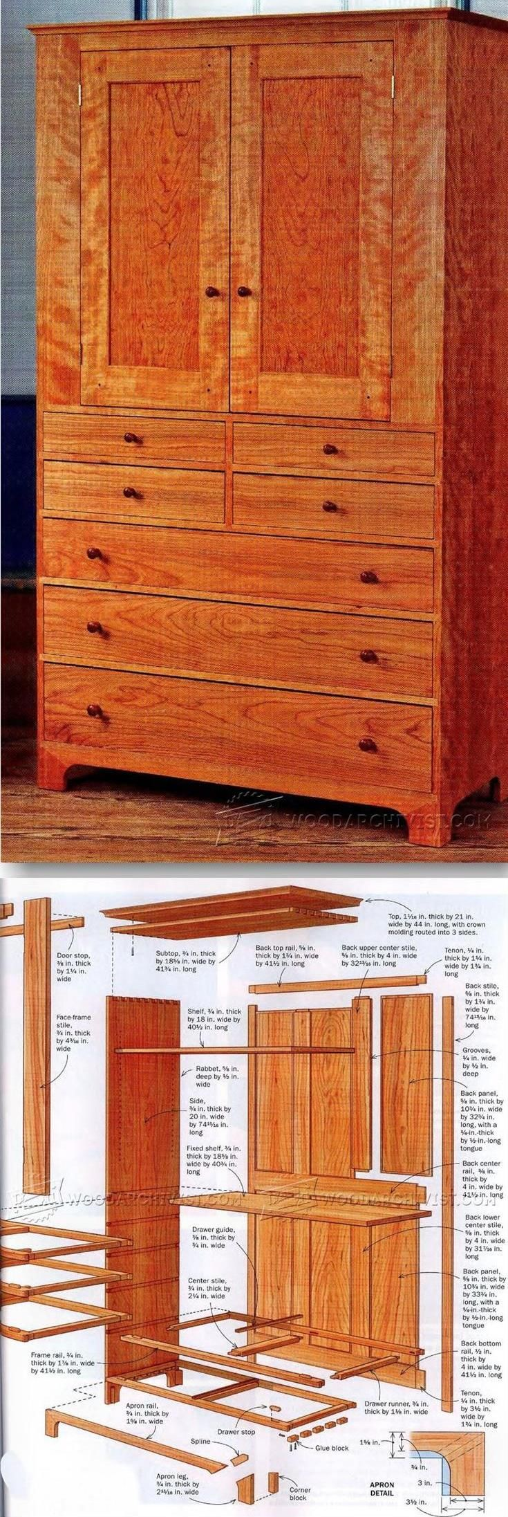 Shaker Cupboard Plans   Furniture Plans And Projects | WoodArchivist.com