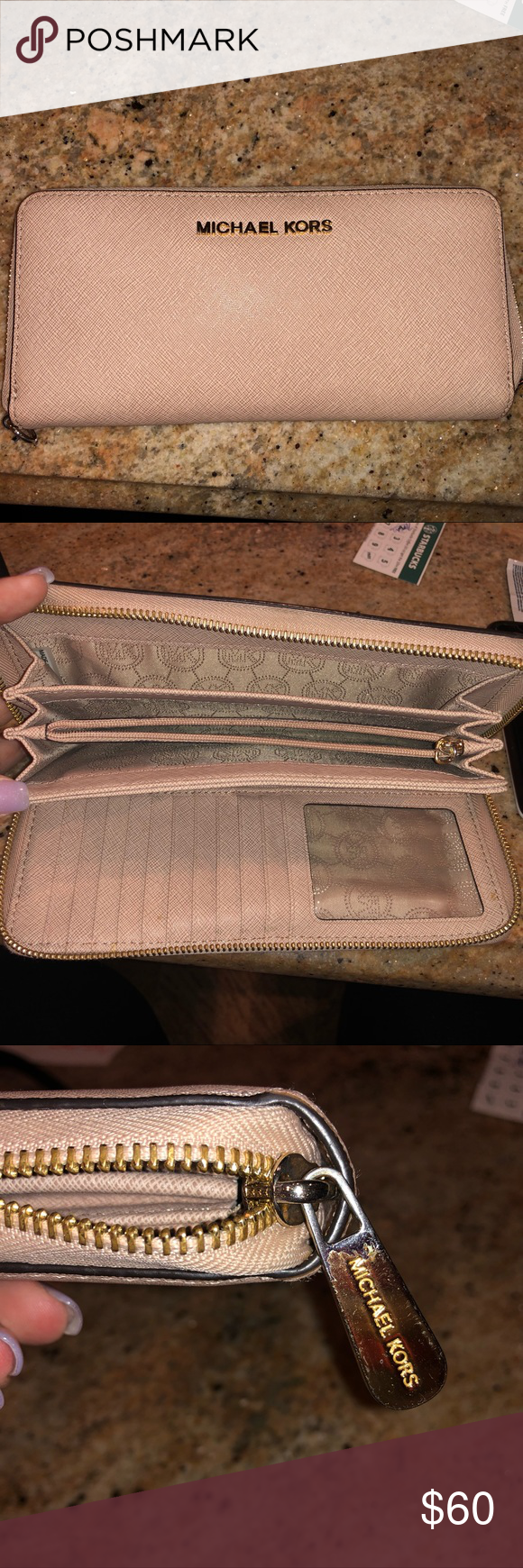 85aaed0d0a93 Slightly used Michael Kors continental wristlet. Michael kors wallet! NUDE Michael  Kors Bags Clutches & Wristlets