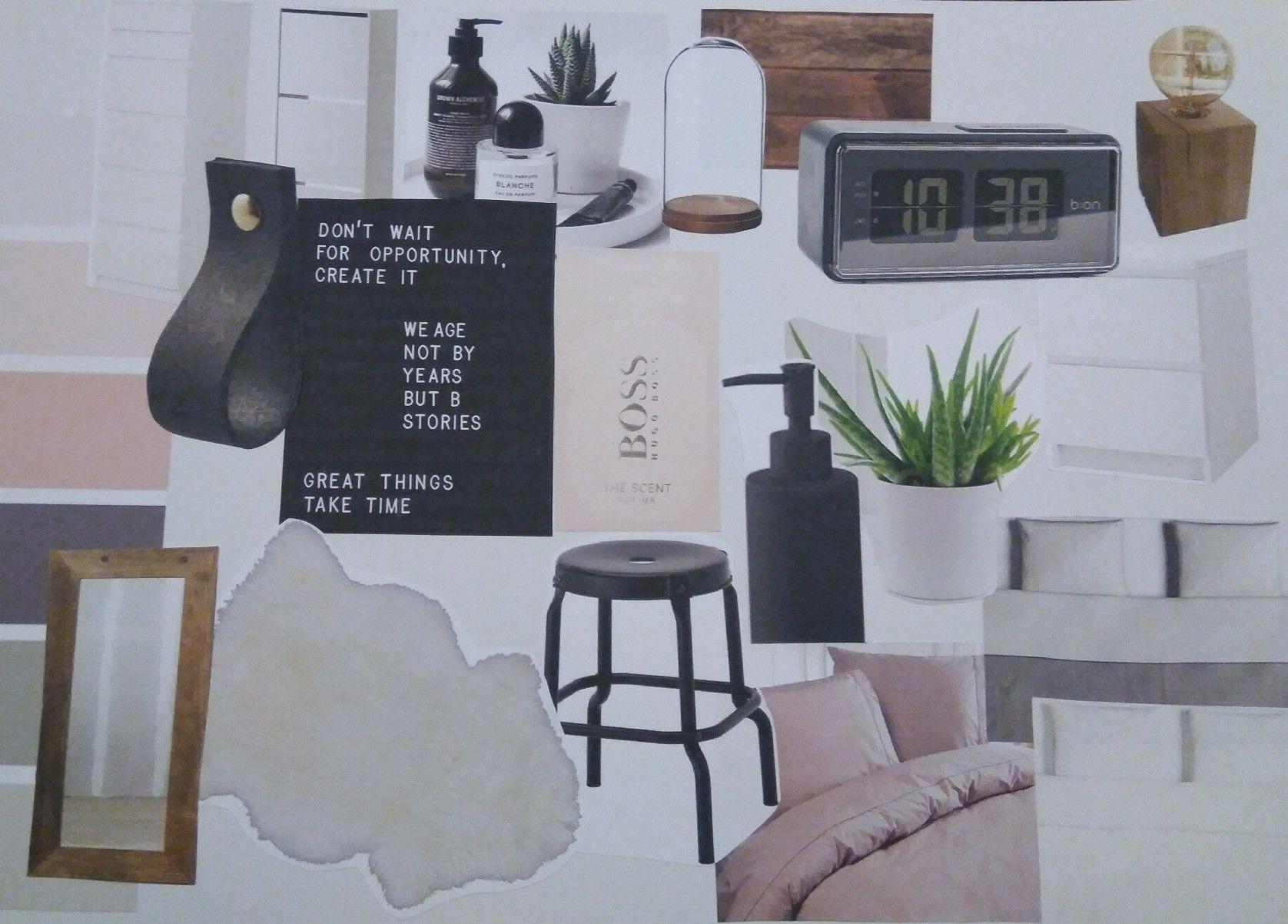 Slaapkamer Groen Grijs : Moodboard nieuwe slaapkamer. roze pasteltinten wit grijs
