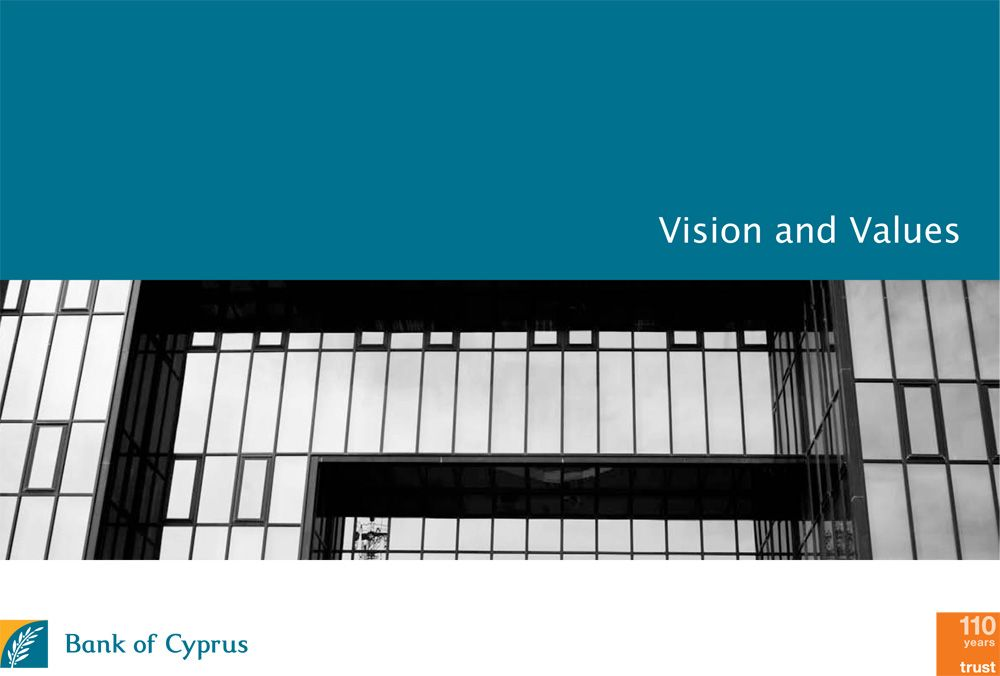 Bank Of Cyprus Vision Values Cyprus