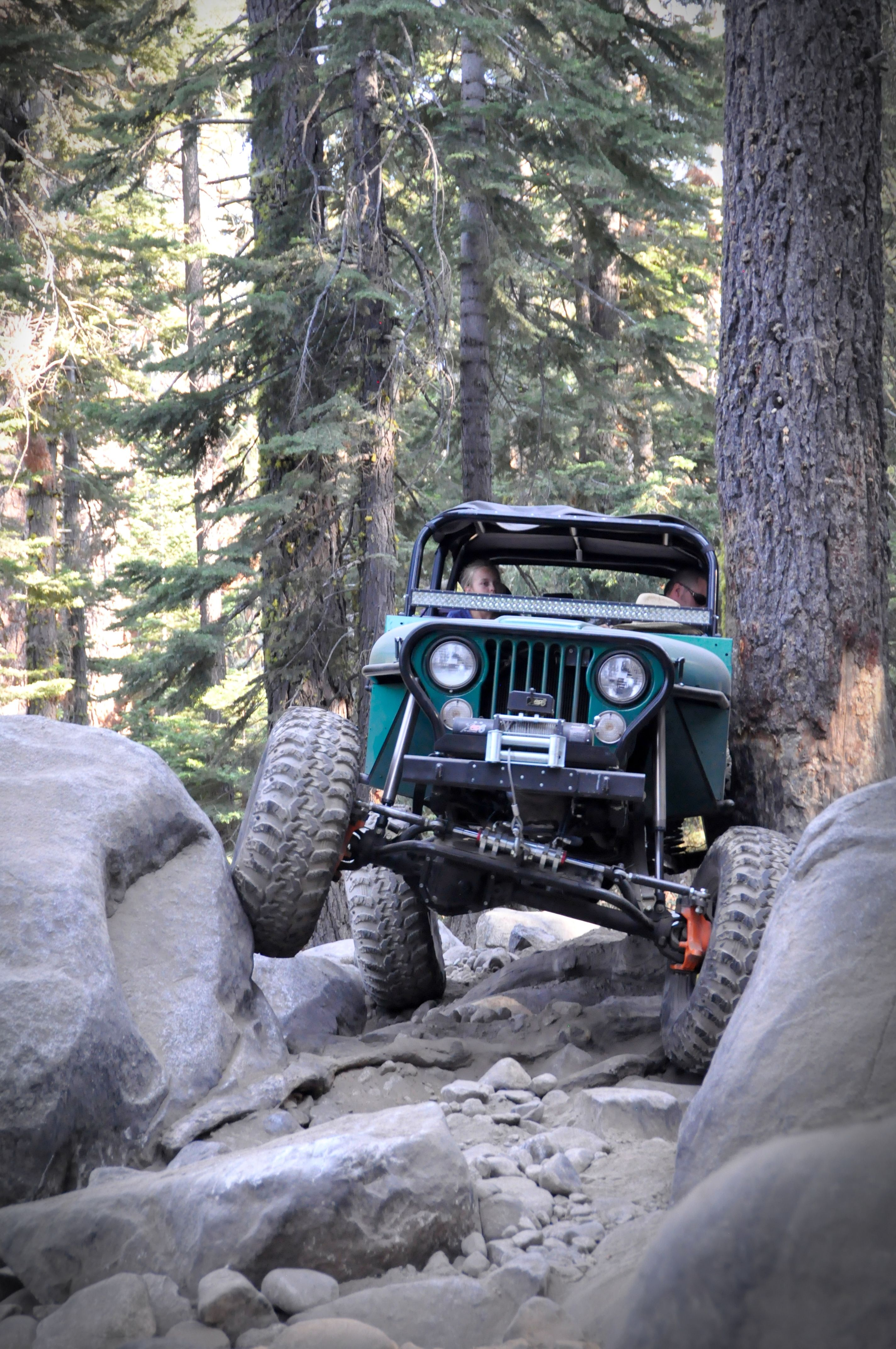 Custom Jeep Doing What Jeeps Do Best Along The Rubicon Trail