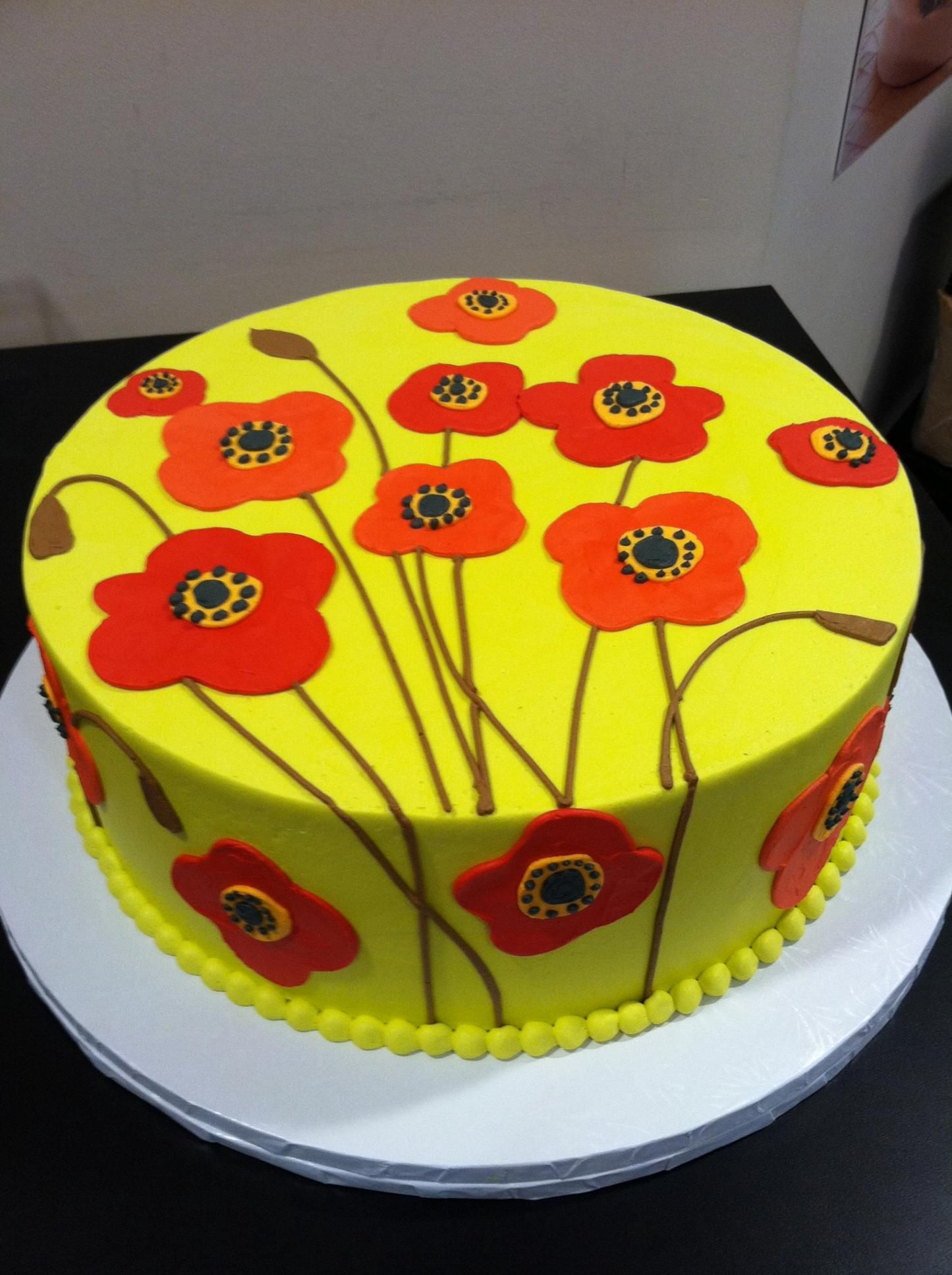 Poppy cake by the white flower cake shoppe its all about that poppy cake by the white flower cake shoppe dhlflorist Image collections