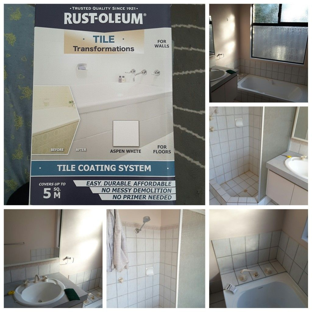 Rustoleum Tile Paint kit in Aspen White. $107 Bunnings ...