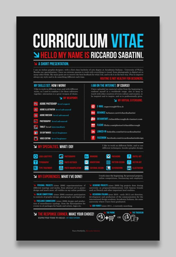 17 Amazing Examples Of CV/Resume Design  Resume Design Examples