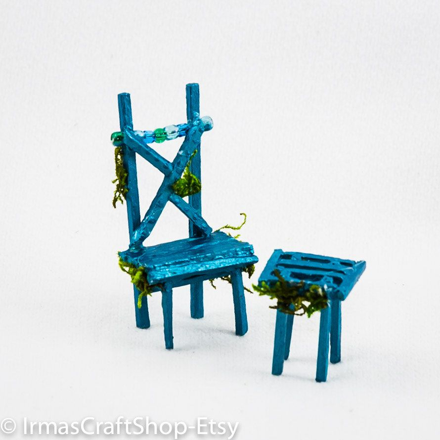 whimsical furniture and decor. Whimsical Furniture And Decor. Fairy Matchstick Chair, Furniture, Teal Chair Table Decor E