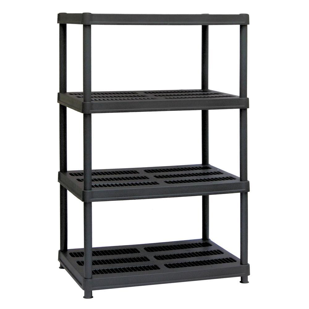 Sandusky 56 In H X 36 In W X 24 In D 4 Shelf Black Plastic