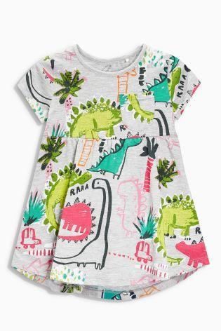 6f62d7dd4821e Grey Dino Tunic (3mths-6yrs) | Bolt fabric | Girl dinosaur, Dinosaur ...