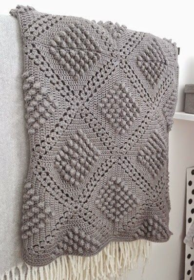 Popcorn blanket made by AnaZard. Pattern here… | Afghans | Pinterest ...